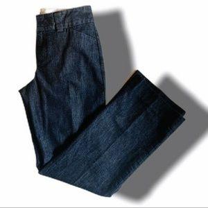 GAP Womens Curvy Blue Denim Dress Pants Size 6